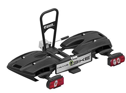 TransBike Portabicicletas sobre Bola para 4 bicis, Plegable, abatible y con Sistema antirrobo en Todas Las bicis. Carga máxima 60 Kilos.