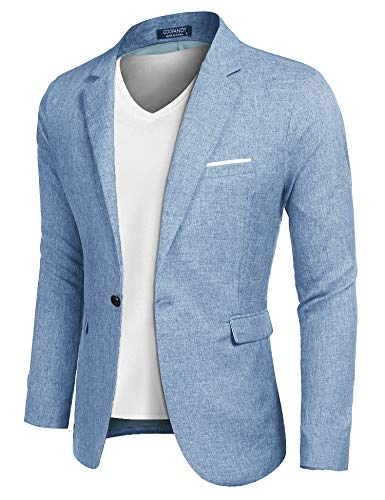 Haggar Men's Active Series Classic Fit Stretch Suit Separate (Blazer, blue pant, 36Wx29L