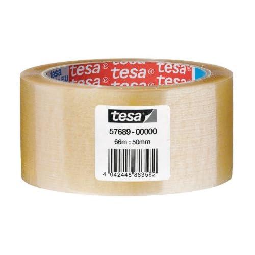 Tesa 57689-00000-00 Nastro da Imballo Acrilico, Svolgimento Silenzioso, Trasparente