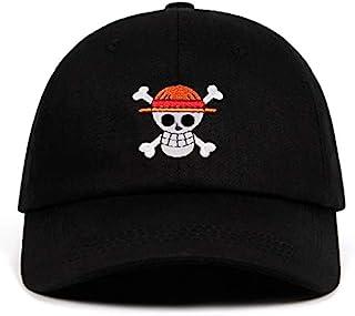قبعة بيسبول قطعة واحدة عليها رسوم متحركة UMiCHOi قبعة للأب الياباني للرجال باللون الأسود