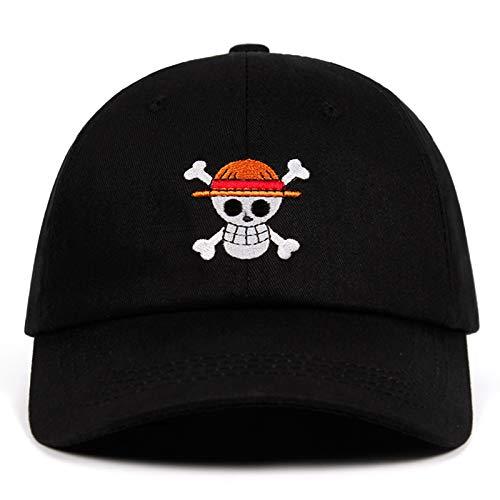 UMiCHOi Anime Hat One Piece Baseball Cap Japanese Dad Hat for Men Black