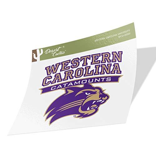 Western Carolina University WCU Catamounts Vinyl Decal Laptop Water Bottle Car Scrapbook (Sticker - 00001)