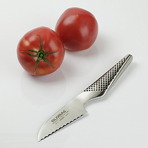 """Global GS-9-3 inch, 8cm Serrated Tomato Knife, 3"""", Silver"""