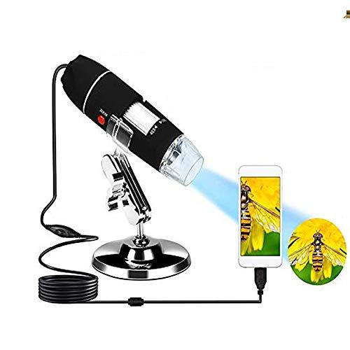 Tiamu USB-Digital Mikroskop, 40X-1000X Vergrößerungs-Endoskopkamera, Mikroskop-Kamera mit 8 LEDs für Kinder kompatibel für Win XP/Windows 7 /Vista