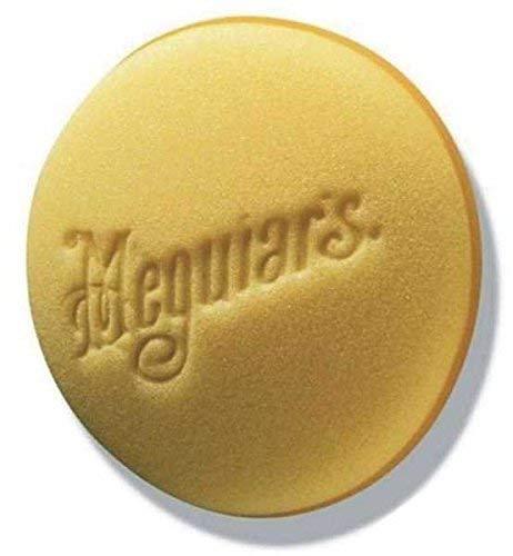 Meguiars X3070EU Tampone applicatore di Paste e Cera, 2 Pezzi per Confezione, Giallo, Diametro 10 cm Circa
