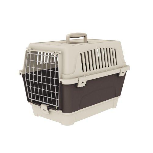 Ferplast 73007399W2 Transportbox ATLAS 10 ORGANIZER, für Katzen und Hunde, Maße: 47,6 x 33,2 x 33,6 cm, grau