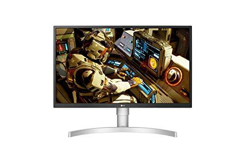 LG UltraFine 27UL550-W, Moniteur IPS UHD 4K 27'' (3840x2160, 5ms, sRGB 98%, HDMI, Display Port, HDR, FreeSync, Ajustable Hauteur, Pivotable)