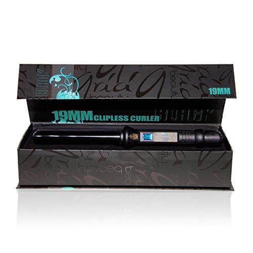 Aria Beauty 19mm Lockenstab mit moisturizing Conditioner (Schwarz)