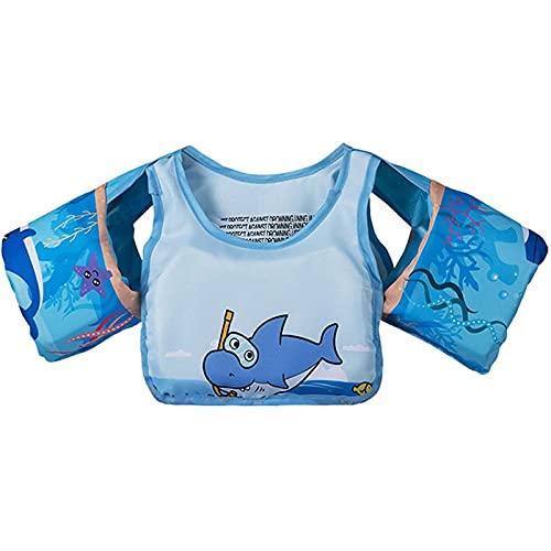 Bhgvtz Chaleco Salvavidas Chaleco Salvavidas para niños, Entrenamiento de flotabilidad asistido por niños, Chaleco Salvavidas Seguro, Pulseras 2-6 años Traje de baño(b)