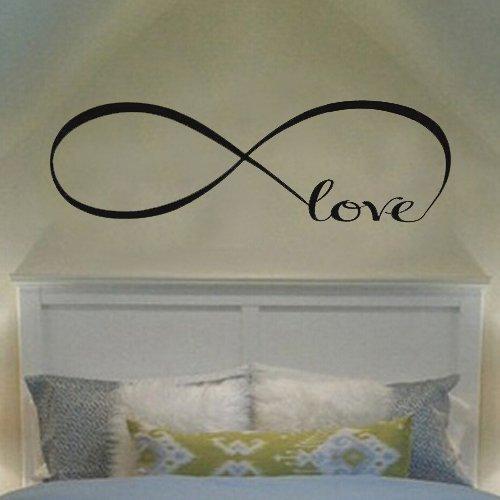 Ecloud Shop® Vinilos decorativos del amor del símbolo del infinito personalizada dormitorio Pegatinas de pared Decoración del dormitorio de Presupuestos de pared de vinilo pegatinas