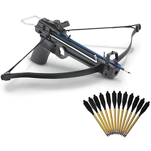 Sonoma Valley Pistol Crossbow Archery Hunting Gun with 12 Aluminum Arrows Bolts