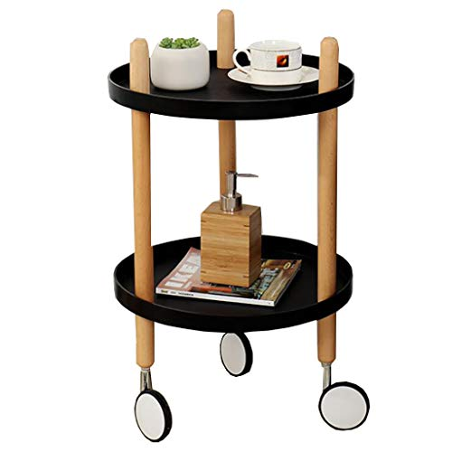 Pedestal Tables Sofa Tables Narrow Chair Snack Coffee Table Patio Coffee Tables with Storage Rack Multipurpose with Rolling Casters Reversible Slide Wood Plastic for Small Space Nesting Tables