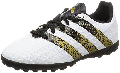 adidas - Ace 16.4 Tf J, Scarpe da calcio Bambino, Bianco (Ftwr White/Core Black/Gold Met.), 38 2/3 EU