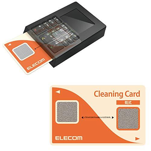 エレコム ICクリーニングカード カード クリーナー 接点式クリーナー 除電 クリーニングクロスセット 【 ETC/B-CASカード/ICカード/クレジットカード決済端末機 対応 】 乾式 CK-CR1