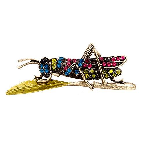 TOOGOO Broches de Saltamontes de Vintage para Mujer Pin Broche de Insecto...