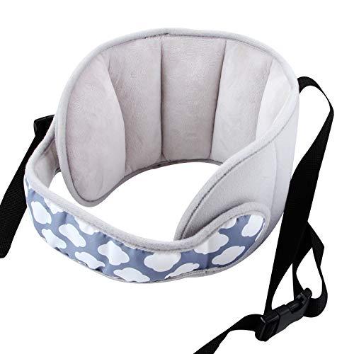 vocheer Kindersitz-Kopfst¨¹tze, verstellbarer Autositz-Kopfgurt f¨¹r Kinder Baby Komfortabler Nackenentlastungs-Kopfschutzgurt, grau