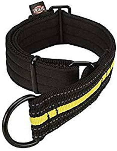 Trixie 207308 Sporting Fusion Zug-Stopp-Halsband, S–M: 28–38 cm/35 mm, schwarz/gelb
