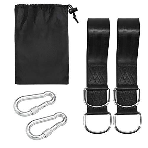 Kohyum Swing y hamaca Kit – Juego de dos correas de 1,5 m (cubre: 800 kg), con mosquetón para hamaca y asiento balancín