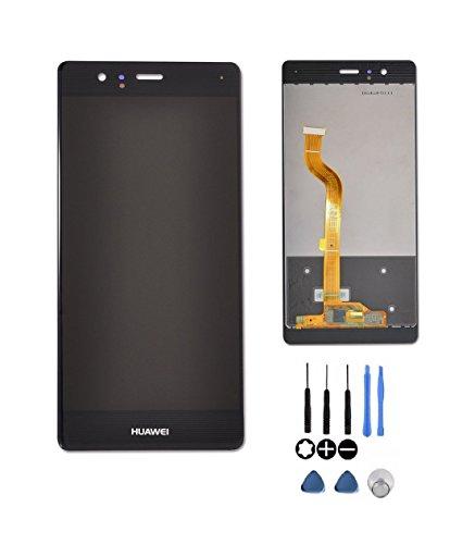 Theoutlettablet® Vollkapazitiver LCD-Bildschirm mit Digitizer-Touch für Smartphone Huawei Ascend P9 + Werkzeuge - Schwarze Farbe