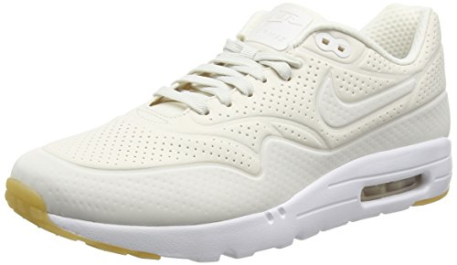 Nike Herren Air Max 1 Ultra Moire Laufschuhe, Beige Phantom White/Gym Yellow, 45 EU
