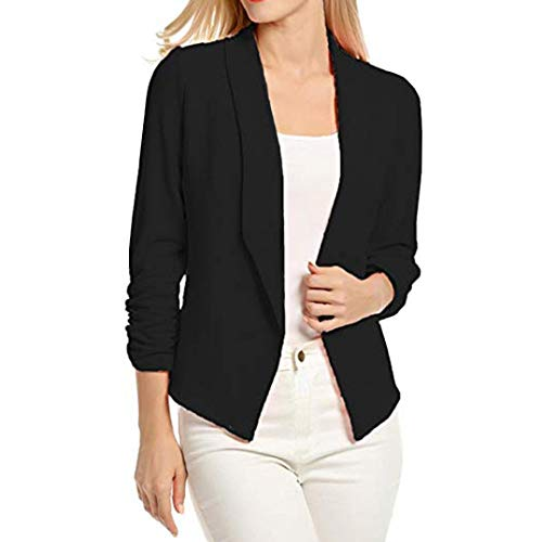 Toasye Women 3/4 Sleeve Blazer Open Front Short Cardigan Suit Jacket Work Office Coat.Women Solid Formal.