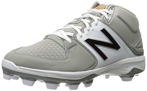 New Balance Men's 3000 V3 TPU Molded Mid Cut Baseball Shoe, Grey/White