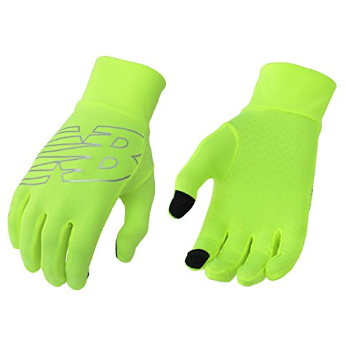 New Balance Lightweight Running Gloves, Hi-Lite, Large