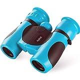 Jaybest Binoculares 8x21 para Niños, Mini Prismáticos compactos para Niños, Observación de Aves, astronomía, Caza, Senderismo, Regalo para pequeños exploradores de 4 a 12 años