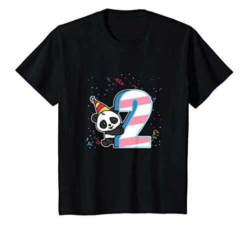 Niños 2º Cumpleaños Regalo Divertido 2 Años Disfraz De Panda Camiseta