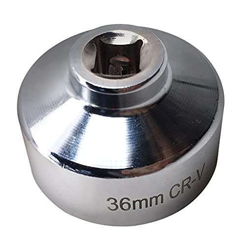 H HILABEE Llave de Filtro de Aceite CRV de 36 Mm Y 6 Puntos para Anticorrosión de Fácil Extracción