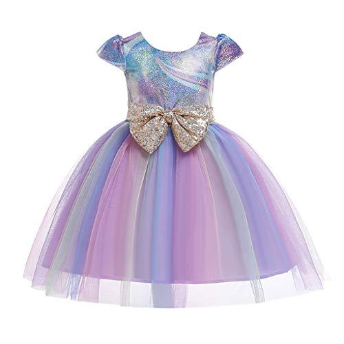 LuckyGirls Robes Élégantes Filles Princesse Robes Formelles De Mariage Filles Filles Robe De Soirée Casual Party Robe sans Manches