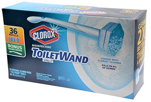 Clorox Toilet Wand Disinfecting Refills, 36 Ct Plus Bonus Handle by Clorox