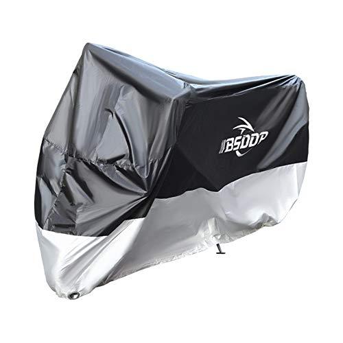 Funda para motocicleta con agujero de llave, Protección impermeable para todas las estaciones al aire libre contra el polvo, los desechos, la lluvia y el clima tela Oxford de repuesto