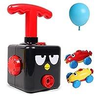 LIOO ニューパワーバルーン起動おもちゃタワー科学実験空気飛行慣性電源バルーン車のおもちゃ子供のギフトのためランチャー