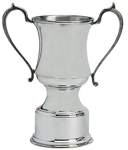 Trofeo de Presentación Deportiva de Estilo Tradicional, Peltre Pulido de 12 Pulgadas, Grabable