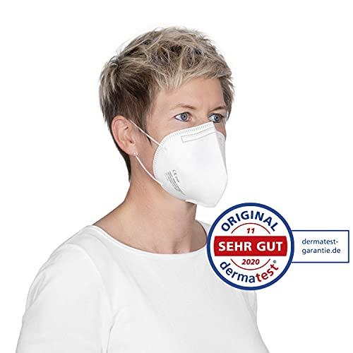 elasto form 10x FFP2 Atemschutzmaske MADE IN GERMANY FFP2 Zertifiziert CE 2163 KN95 Maske Staubschutzmaske Atemmaske Staubmaske verpackt im hygienischen PE-Beutel - 6