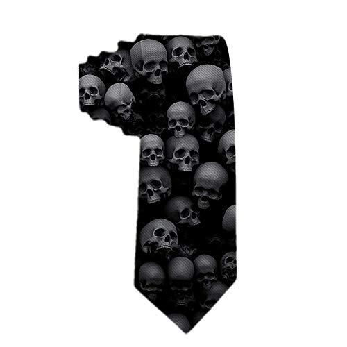 Not applicable Corbatas únicas Corbatas de calaveras negras para hombres Corbatas flacas tejidas Presentes para el trabajo Regalo perfecto para chicos