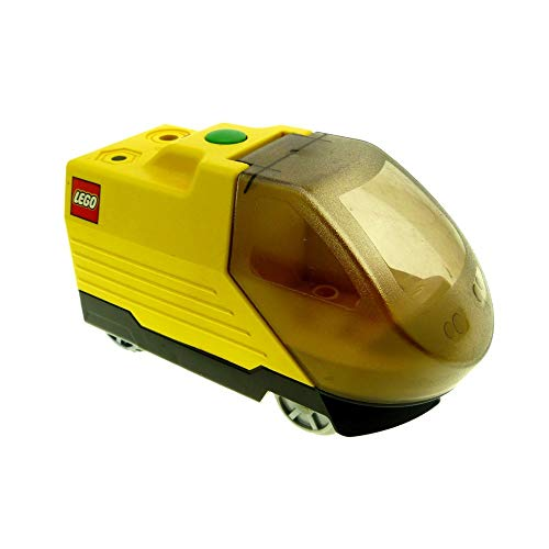 1 x Lego Duplo Intelli E-Lok gelb schwarz Eisenbahn Lokomotive Passagier Zug komplett geprüft 6172c01