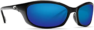 Costa Del Mar Harpoon 580P Shiny Black/Blue Mirror Polarized Lens 60mm Sunglasses