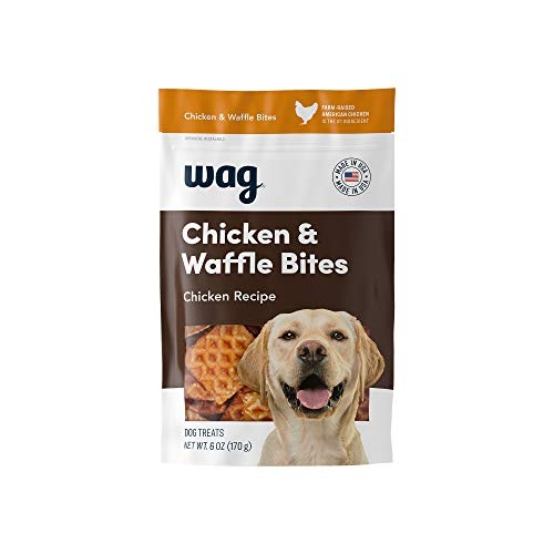 Amazon Brand - Wag Treats Chicken and Waffle Bites 6oz