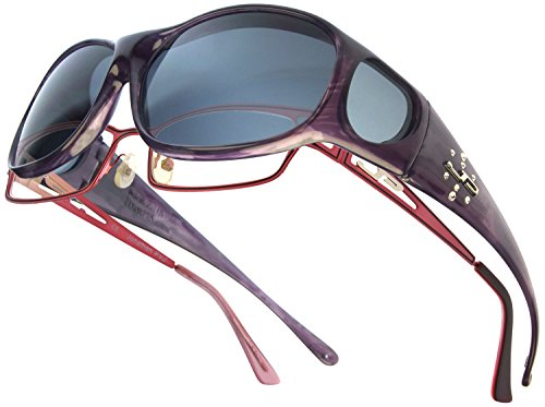 Element JP Fitovers - Purple Haze w/Swarovski - Grey Lens (EM006S)