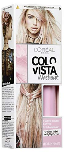 L\'Oréal Paris Colovista 2-Week Washout #PINKHAIR, Haarfarbe, auswaschbar nach 2-3 Haarwäschen, in hellem Pink, #DOITYOURWAY