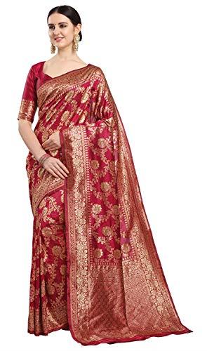 Ethnicjunction Women's Banarasi Silk Saree With Blouse Piece