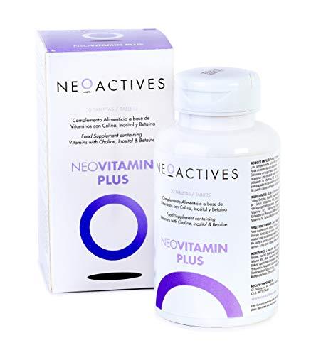 NeoVitamin Plus | Suplemento con cantidades equilibradas y altamente biodisponibles | Vitamina A, Vitamina D3, Vitamina E, Vitamina K2, Vitamina C, Vitaminas B, Ácido fólico, biotina, colina.