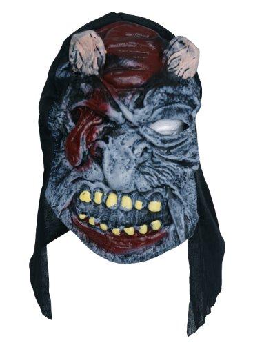 Zombie Masque en caoutchouc Gris-langue