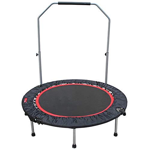 Cxraiy-SP Trampoline Foldable Trampoline Mini For Indoor Fitness Bounce Trampoline (Color : Red, Size : 50 inches)