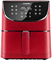 cosori friggitrice ad aria calda,5,5l friggitrice senza olio,air fryer con 11 programmi,funzione keep warm,led touch screen,tempo temperatura regolabili,senza bpa&pfoa,100 ricette cartacee 1700w