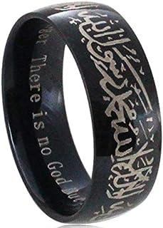316L stainless steel muslin Allah Arabic Shahada ring for women men Islam Massager Gift jewelry
