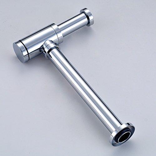Auralum Siphon Design Ablaufgarnitur Pop Up Ventil Waschbecken Ablaufventil, Waschtisch fürs Bad Badenbecken chrom
