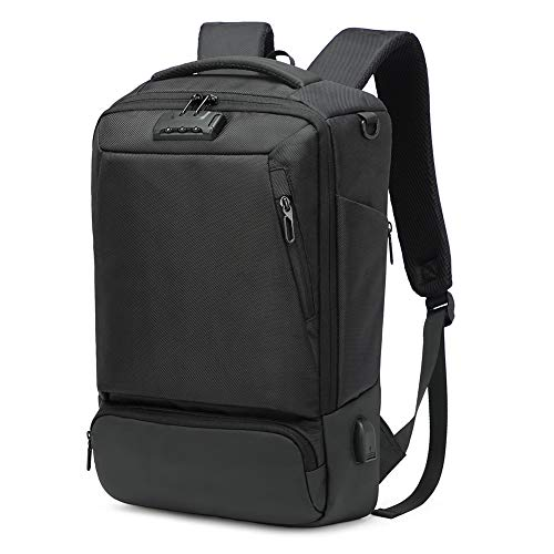 Seckilling Best Choice Hk Anti Theft Backpack Men Women Waterproof Business Travel Bags for Longer Trips Fits 15.6 inch Netbook Black